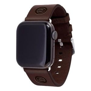 Chicago Cubs Leather Apple Compatible Watchband